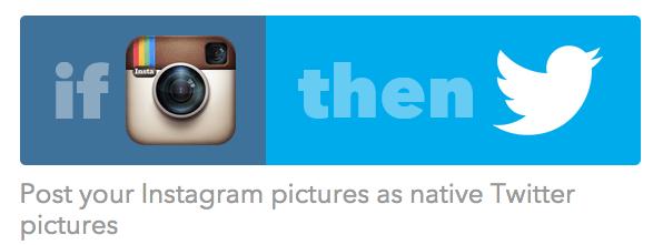 Instagram to Twitter IFTTT