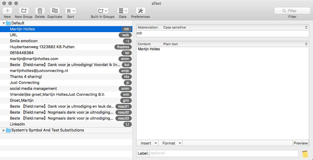 Atext screenshot